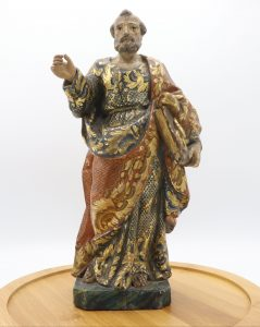This image is of St. Peter the apostle dates back to Ecuador in the 19th century.